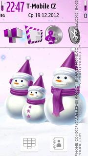 Stylish Snowmen. theme screenshot