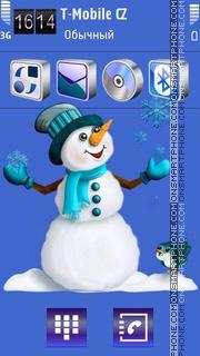 Snowman 10 theme screenshot