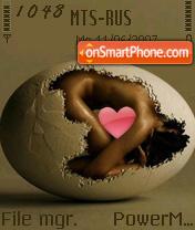 Egg 01 es el tema de pantalla