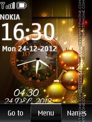 Golden Christmas Dual Clock es el tema de pantalla