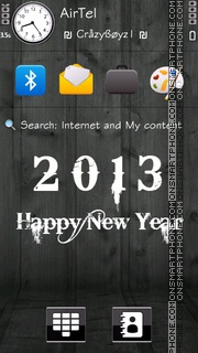 2013 New Year tema screenshot