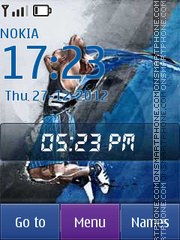 Basketball Player theme screenshot