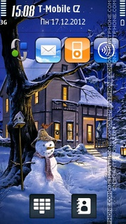 Christmas Night 06 tema screenshot