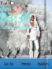 Glamorous Snow Maiden theme screenshot