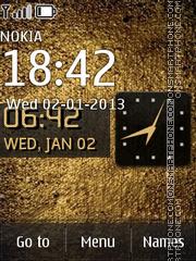 Texture Gold theme screenshot