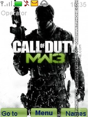 Modern Warfare 3 - Call of Duty theme screenshot