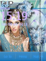 Indian diva theme screenshot