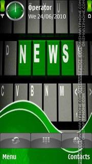 Capture d'écran News Logo thème