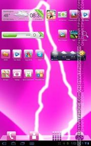 Pink Electro es el tema de pantalla