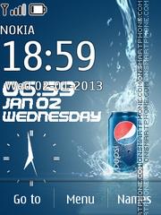 Capture d'écran Pepsi Flash Clock thème