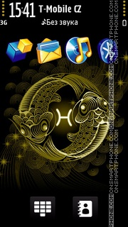 Pisces black and gold es el tema de pantalla