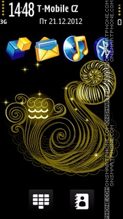 Aquarius black and gold es el tema de pantalla