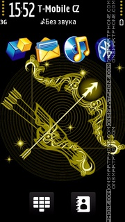 Sagittarius black and gold es el tema de pantalla