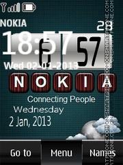 Nokia Digital Clock 04 es el tema de pantalla