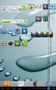 aPhone Theme GO Launcher EX es el tema de pantalla