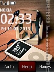 Music iPod nano es el tema de pantalla
