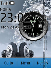 Best Headphones Clock es el tema de pantalla