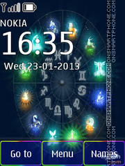 Signs of the zodiac theme screenshot