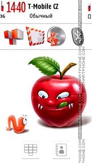 Angry Apple. es el tema de pantalla