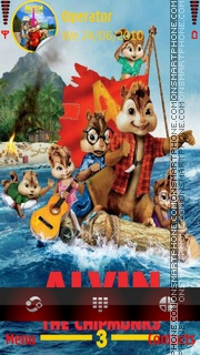 Alvin and the chipmunks3 01 es el tema de pantalla