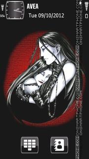 Gothic Love theme screenshot