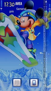 Mickey Mouse theme screenshot