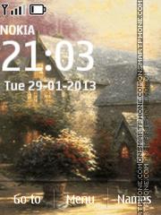 Cottages in art tema screenshot