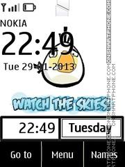Angry Bird Clock 02 es el tema de pantalla