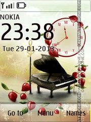 Musical Piano theme screenshot