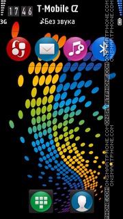 Colorful Dots theme screenshot