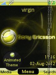 Yellow Sony Ericsson es el tema de pantalla