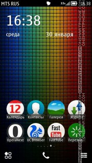 Color Frame theme screenshot
