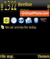 Simpson Black theme screenshot