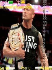 WWE The Rock theme screenshot