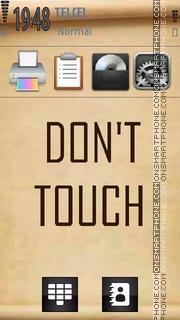 Don't touch es el tema de pantalla