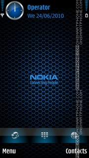 Nokia Blue Black theme screenshot