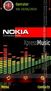 Xpressmusic theme screenshot