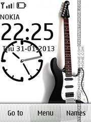 White Guitar & Clock es el tema de pantalla