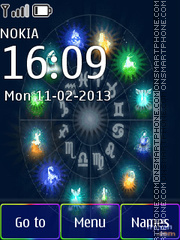 Zodiac Signs theme screenshot