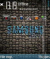Samsung es el tema de pantalla