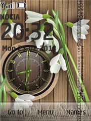 Flowers Clock es el tema de pantalla