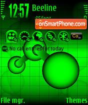 ZZ Black & Acid Green theme screenshot