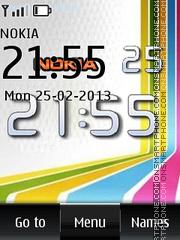 Nokia Big Digital Clock theme screenshot