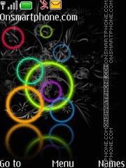 Neon Rings theme screenshot