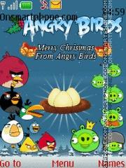 Angry Birds Christmas theme screenshot