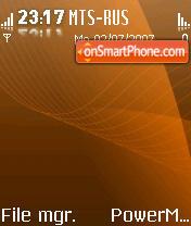 Glossy Orange theme screenshot