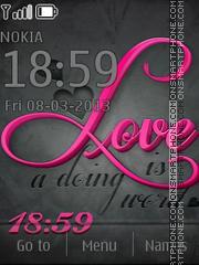 Love theme theme screenshot