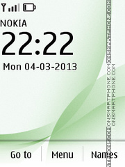 Green White theme screenshot