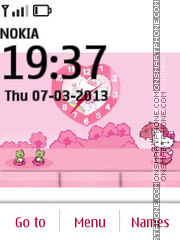 Hello Kitty 44 theme screenshot
