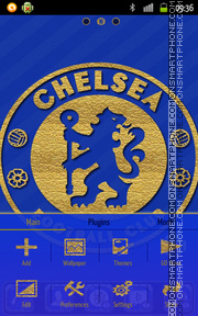 Chelsea Football Club theme screenshot